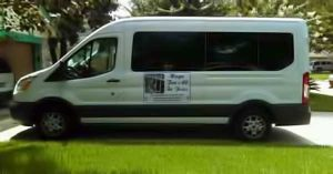 Photo of the van for ministry teams.